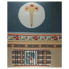 Vintage Handmade Arras by M. Ernst, 1975
