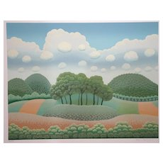 Trees Under The Clouds - 1990s - Ivan Rabuzin - Serigraph