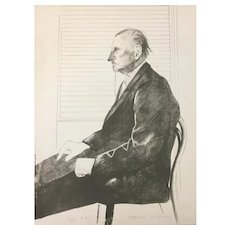 The Print Collector(Portrait of Felix Mann) - 1960s - David Hockney - Lithograph