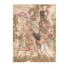 Untitled Plate 4 from Paroles Peintes Suite - 1970s - Sebastián Matta