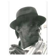 Beuys Portrait Original Photo by Joseph Beuys - 1970's
