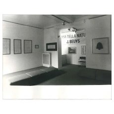 Beuys' Exhibition - Original Vintage Photo by Ruby Durini - 1984 ca.