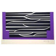 Purple Composition - 1989 - Victor Vasarely - Serigraph