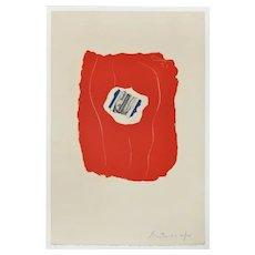 Tricolor, an original colored offset lithography by Robert Motherwell, 1973