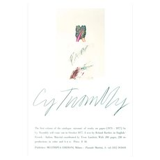 Original offset poster designed by Cy Twombly, 1977