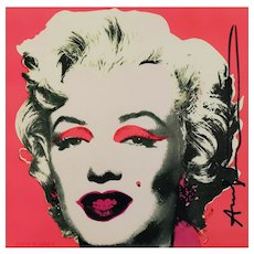 Marilyn Invitation, an original colored serigraph by Andy Warhol, 1981