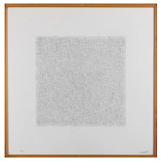 Black and white lithography on Magnani paper by Sol Lewitt, 1971