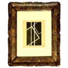 """Black Geometrical Composition"" an original Poster Paint by Franz Kupka"