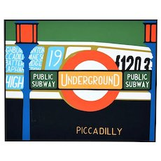 Piccadilly - Original Screen Print by Mario Padovan - 1960s