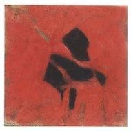 Homage to Alberto Burri - Oil Painting 1996 by Giorgio Lo Fermo