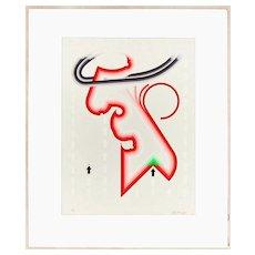 Untitled - Original Screen Print by Giorgio Bompadre - 1969