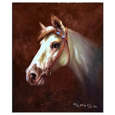 Original Oil Painting of a Horse by M. Bobley