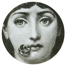 Original Porcelain Plate by Piero Fornasetti, 1960s