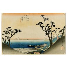 Japanese Coulored Woodblock Print on Paper Utagawa Hiroshige, 1834