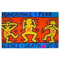 Ignorance=Fear/ Silence=Death - Keith Haring - Serigraph - Contemporary - 1989