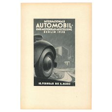 Internationale Automoil - Vintage Advertising on Paper - 1938