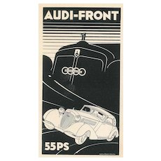 Audi-Front 55PS - Vintage Advertising on Paper - 1930s