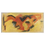 Giorgio Lo Fermo Fox Hunting - Abstract Expression - Oil Painting 2011