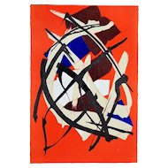 Untitled Composition - Original Abstract Lithograph by Luigi Montanarini - 1976