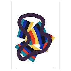 Untitled - Original Screen Print by Luigi Montanarini - 1976