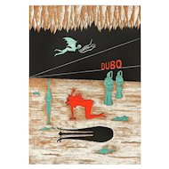 A rare insight of Area 51: Dubo - Original Lithograph by Henry Maurice - 1970s