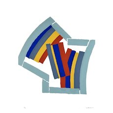 Color Lines - Original Screen Print by Luigi Montanarini - 1970s