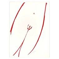 Agrà su Bianco by Sante Monachesi - Lithograph - 1970 ca.