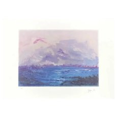 The Storm - Original Lithograph by Martine Goeyens - 2002