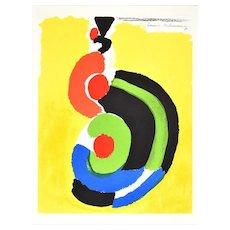 Contraste de Formes - Original Lithograph by Sonia Delaunay - 1969