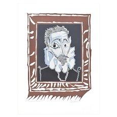 Homme à la Fraise - Original Lithograph After Pablo Picasso - 1973