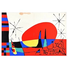 Terre de grand feu, Mirò – Artigas - Original Lithograph by Joan Mirò - 1956