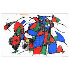 Composition - Lithograph after Joan Mirò - 1974