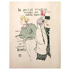 Le Petit Trottin - Original Litograph by Henri de Toulouse-Lautrec, 1901 ca.