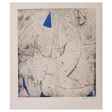 Miracolo - Original Etching by Marino Marini - 1970