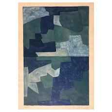 Composition Bleue - Original Lithograph by Serge Poliakoff - 1969