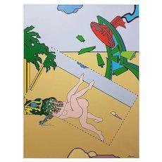 Original Acrylic Painting by J. Carruna, 1977