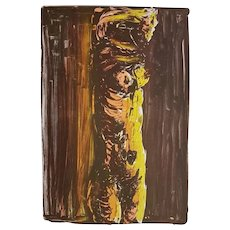 Brown Nude - Original Lithograph by Vittorio Tavernari - 1967