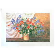 Wildflowers - Original Serigraph by Franco Bocchi