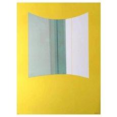 Yellow - Original Lithograph by Lorenzo Indrimi - 1970