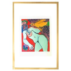 Nude - Original Lithograph by G. Corneille - 1977