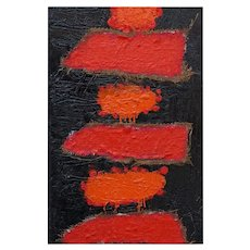 Homage to Burri, Original Abstract Oil on Canvas by Giorgio Lo Fermo, 2004