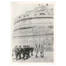The Celebration of the Birth of Rome with Mussolini - Original Vintage Photo - 1934