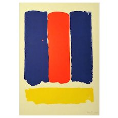 Abstract Composition, OriginalSerigraph by Bram Bogart - 1969