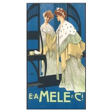 Mele - Original Vintage Advertising Lithography by L. Metlicovitz - 1900 ca.