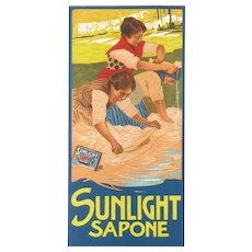 Sunlight Sapone - Vintage Adv Lithography by L. Metlicovitz - 1900 ca.