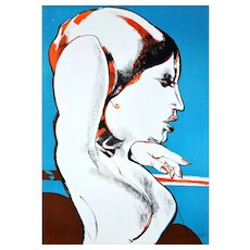 The Diva - Original Lithography by Fernando Farulli - 1970s