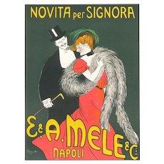 Novità per Signora - Original Advertising Lithography by L. Cappiello - 1903 ca.