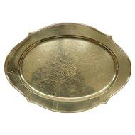 "SHREVE & COMPANY 20""+ x 14""+ Sterling Silver Serving Tray Platter 1540 grams"