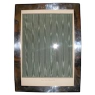 """Graff Washbourne Dunn GWD Sterling Silver Picture Photo Frame 10"""" x 13-1/2""""+, 255 Grams"""