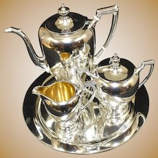 Dominick & Haff Sterling Silver 5 Piece Tea Coffee Set, Exceptional, Nearly 2500 Grams